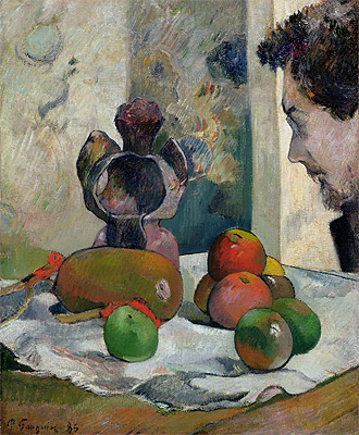 Still Life with Profile of Laval, 1886 | Gauguin | Giclée Canvas Print