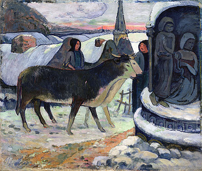 Christmas Night (The Blessing of the Oxen), c.1902/03 | Gauguin | Giclée Canvas Print