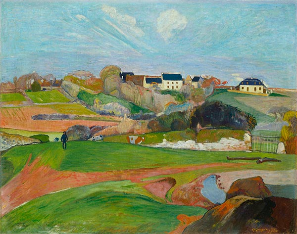 Landscape at Le Pouldu, 1890 | Gauguin | Painting Reproduction