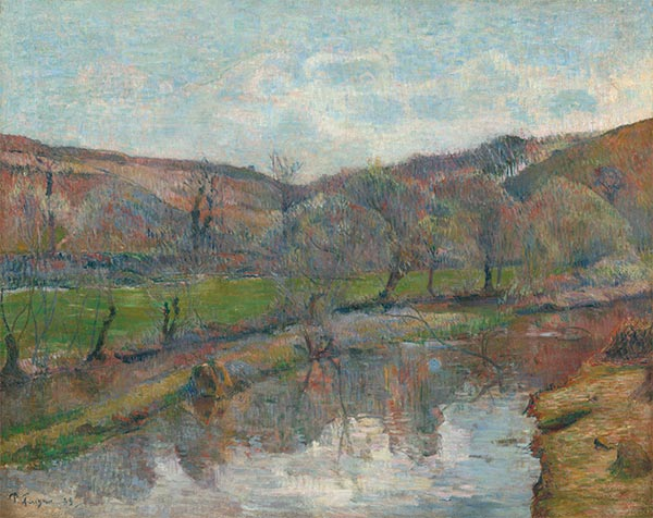 Brittany Landscape, 1888 | Gauguin | Painting Reproduction