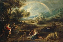 Rubens | Landscape with a Rainbow | Giclée Canvas Print