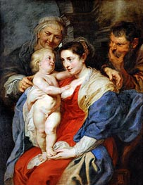 Rubens | The Holy Family with Saint Anne | Giclée Canvas Print