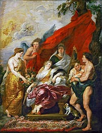 Rubens   The Birth of Louis XIII at Fontainebleau, 27th September 1601 (The Medici Cycle)   Giclée Canvas Print