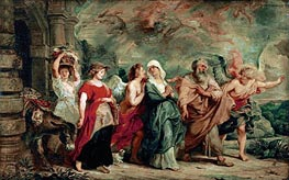 Rubens   Lot and His Family Leaving Sodom   Giclée Canvas Print