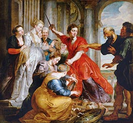 Rubens   Achilles Discovered by Ulysses and Diomedes, c.1617   Giclée Canvas Print