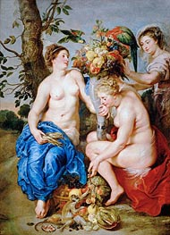 Rubens   Ceres with Two Nymphs, c.1624   Giclée Canvas Print