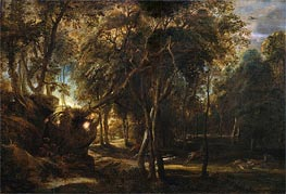 Rubens | A Forest at Dawn with a Deer Hunt | Giclée Canvas Print