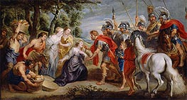 Rubens | David Meeting Abigail | Giclée Canvas Print