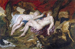 Rubens | Diana and her Nymphs Spied upon by Satyrs | Giclée Canvas Print