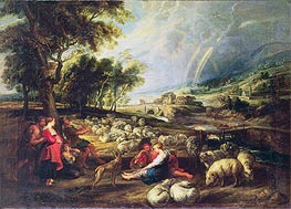 Rubens | Landscape with Rainbow, undated | Giclée Canvas Print