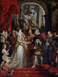 Rubens | The Proxy Marriage of Marie de Medici and Henri IV 5th October 1600, c.1621/25 | Giclée Canvas Print