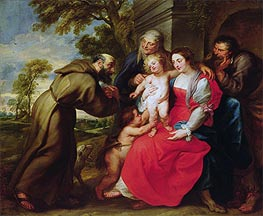 Rubens | Holy Family with St. Francis | Giclée Canvas Print