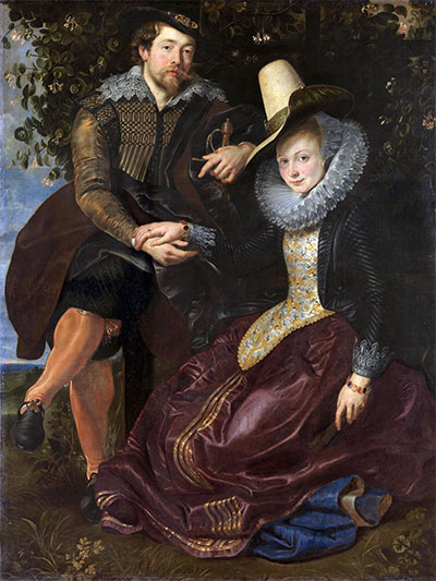 Rubens and Isabella Brant under the Honeysuckle, c.1609/10 | Rubens | Painting Reproduction