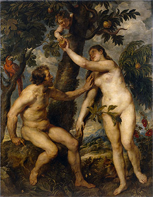 Adam and Eve (after Titian), c.1628/29 | Rubens | Giclée Canvas Print