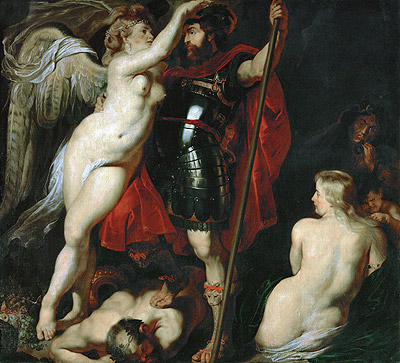 Mars Crowned by the Goddess of Victory, undated   Rubens   Giclée Canvas Print
