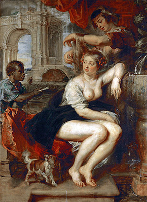Bathsheba at the Fountain, c.1635 | Rubens | Giclée Canvas Print