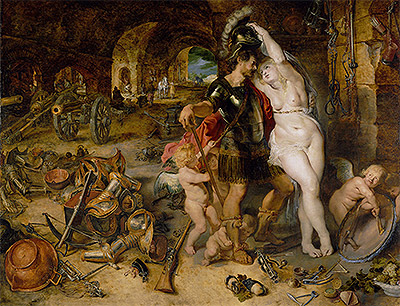 The Return from War (Mars Disarmed by Venus), c.1610/12 | Rubens | Painting Reproduction