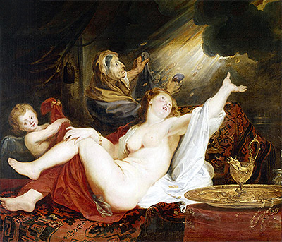 Danae and the Shower of Gold, undated | Rubens | Painting Reproduction