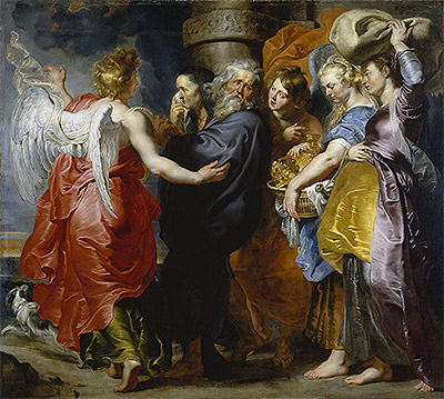 The Departure of Lot and His Family from Sodom, c.1613/15 | Rubens | Painting Reproduction