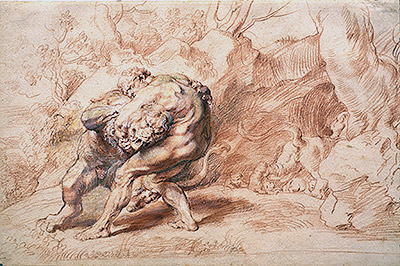 Hercules Strangling the Nemean Lion, c.1620 | Rubens | Painting Reproduction