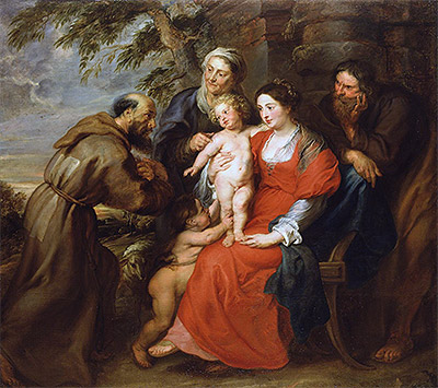The Holy Family with Saint Francis, c.1630 | Rubens | Painting Reproduction