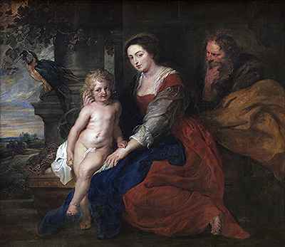 Holy Family with Parrot, c.1614 | Rubens | Giclée Canvas Print