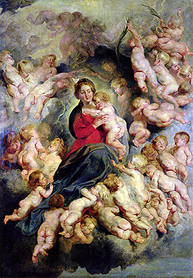 The Virgin and Child Surrounded by the Holy Innocents (The Virgin with Angels), 1618 | Rubens | Giclée Canvas Print