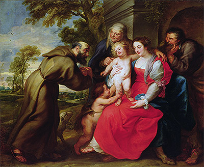Holy Family with St. Francis, c.1625 | Rubens | Giclée Canvas Print