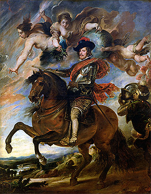 Equestrian Portrait of King Philip IV of Spain, undated | Rubens | Giclée Canvas Print
