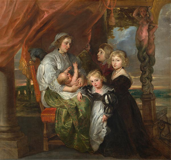 Deborah Kip and Her Children, c.1629/30 | Rubens | Painting Reproduction
