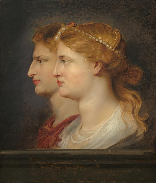 Agrippina and Germanicus, c.1614 | Rubens | Painting Reproduction