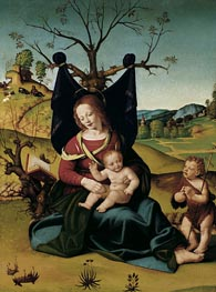 Piero di Cosimo | Madonna with Child and the Young St John | Giclée Canvas Print