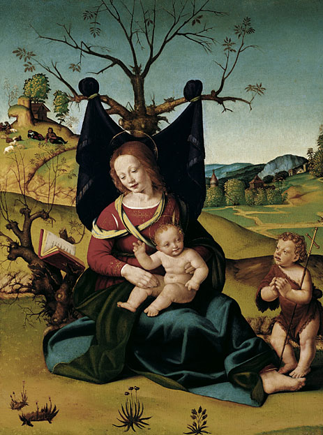 Madonna with Child and the Young St John, c.1505/10 | Piero di Cosimo | Giclée Canvas Print