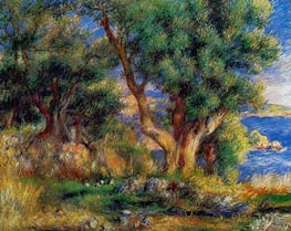 Renoir | Landscape on the Coast, near Menton | Giclée Canvas Print