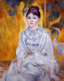 Renoir | Young Woman with Crane | Giclée Canvas Print