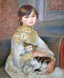 Renoir | Child with Cat (Julie Manet) | Giclée Canvas Print