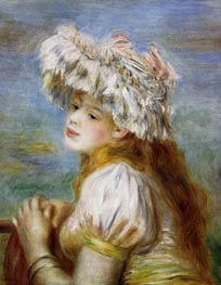 Renoir | Young Girl in a Lace Hat | Giclée Canvas Print