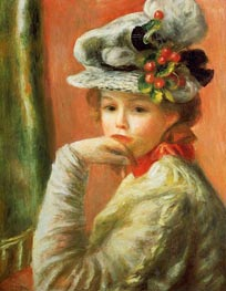 Renoir | Young Girl in a White Hat | Giclée Canvas Print