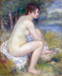 Renoir | Female Nude in a Landscape (Seated Bather) | Giclée Canvas Print