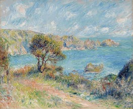 Renoir | View at Guernsey | Giclée Canvas Print