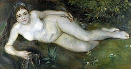 Renoir | A Nymph by a Stream | Giclée Canvas Print