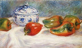 Renoir | Still Life with a Blue Sugar Bowl and Peppers | Giclée Canvas Print
