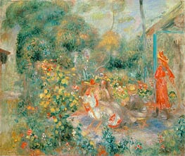 Renoir | Young Girls in the Garden at Montmartre | Giclée Canvas Print