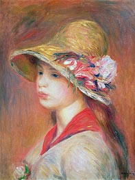 Renoir | Young Woman in a Hat, undated | Giclée Canvas Print
