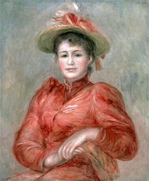 Renoir | Young Woman in Red Dress | Giclée Canvas Print