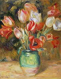 Renoir | Tulips in a Vase | Giclée Canvas Print