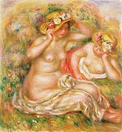 Renoir | Two Nudes Wearing Hats, undated | Giclée Canvas Print