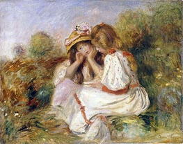 Renoir | Two Girls, c.1890 | Giclée Canvas Print