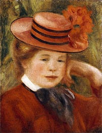 Renoir | A Young Girl with a Red Hat | Giclée Canvas Print
