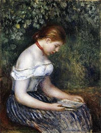 Renoir | The Reader (A Seated Young Girl) | Giclée Canvas Print